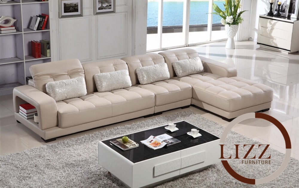 Nigeria L Shaped Leather Sofa In Living Room Sofas From