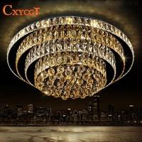 K9 LED Crystal Ceiling Light With Remote Control For Living Room Modern Lampada de teto For Hotel AC110V~240V