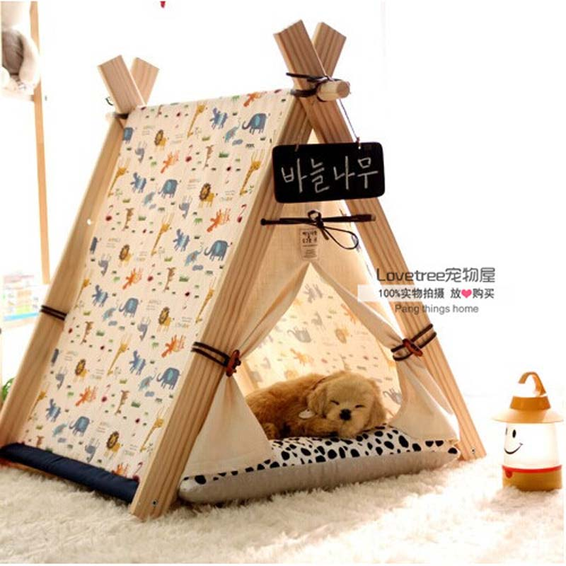 Pet Bed Teepee | Chic u0026 Trendy Small Dog Tent | Cat Nap Beds | Fish Bone Print-in Houses Kennels u0026 Pens from Home u0026 Garden on Aliexpress.com | Alibaba ...  sc 1 st  AliExpress.com & Pet Bed Teepee | Chic u0026 Trendy Small Dog Tent | Cat Nap Beds ...