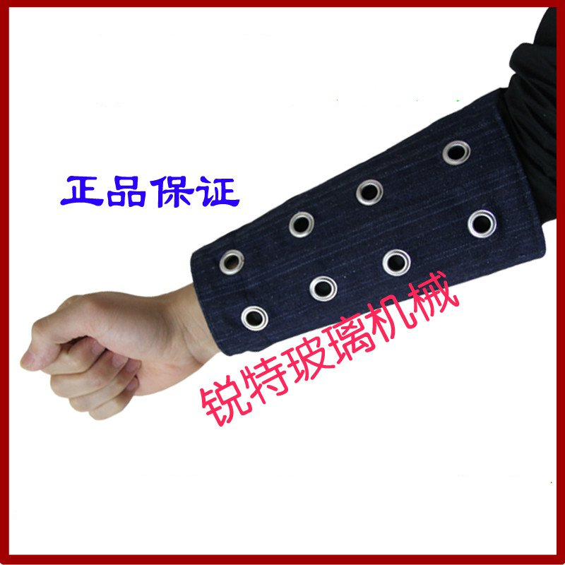 Thick glass wrist cut-resistant armband anti-scratch anti- scratch glass wrist cut-resistant steel bars knit wrist level 5 cut resistant armband thick steel anti cut knife stab proof anti scratch glass wrist defense supplies