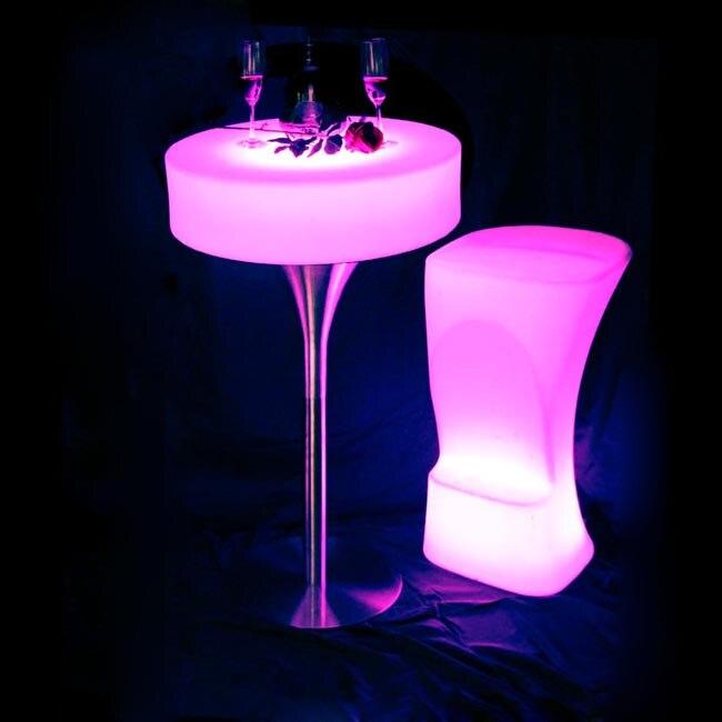 SK-LF21 (D66 * H105cm) LED Bar Furniture meja Koktail dengan 24 - Mebel - Foto 4