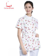 Nurse short sleeve summer suit medical school practice slimming beauty salon drugstore work clothes physician