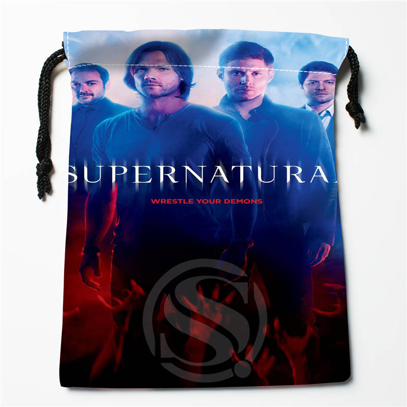 V#bE56 New Supernatural Season Custom Logo Printed  Receive Bag  Bag Compression Type Drawstring Bags Size 18X22cm 7=12JvE56