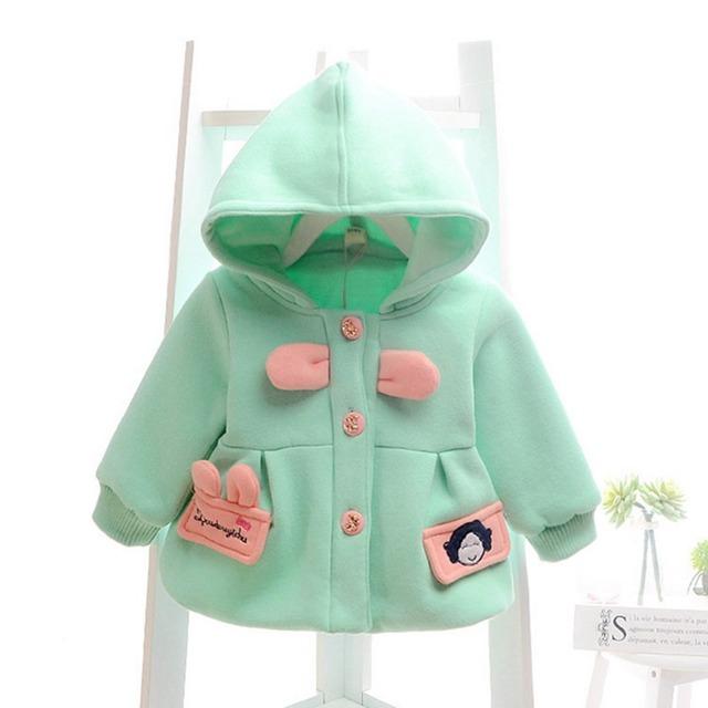 Outono bebê bebês meninas crianças Roupas De Bebe com capuz Bow camisolas De lã casaco casacos Cardigan Outwear e casacos com Cap MT418
