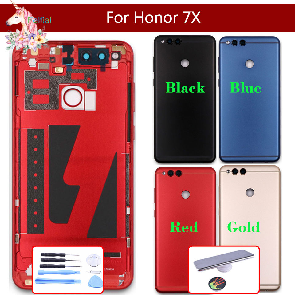 For Huawei Honor 7X BND-L21 BND-L22 BND-L24 BND-AL10 BND-TL10 Battery Cover Back Housing Rear Door Case Full Battery Cover Panel