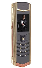 Luxus metall + leder gehäuse handy original china gsm-telefon dual sim Handys bluetooth mp3 handys H-mobile V1