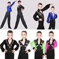 Topos De Dança de Salão criança Meninos Camisa da Dança Latin Collant Palco & Desgaste da Dança Para Meninos