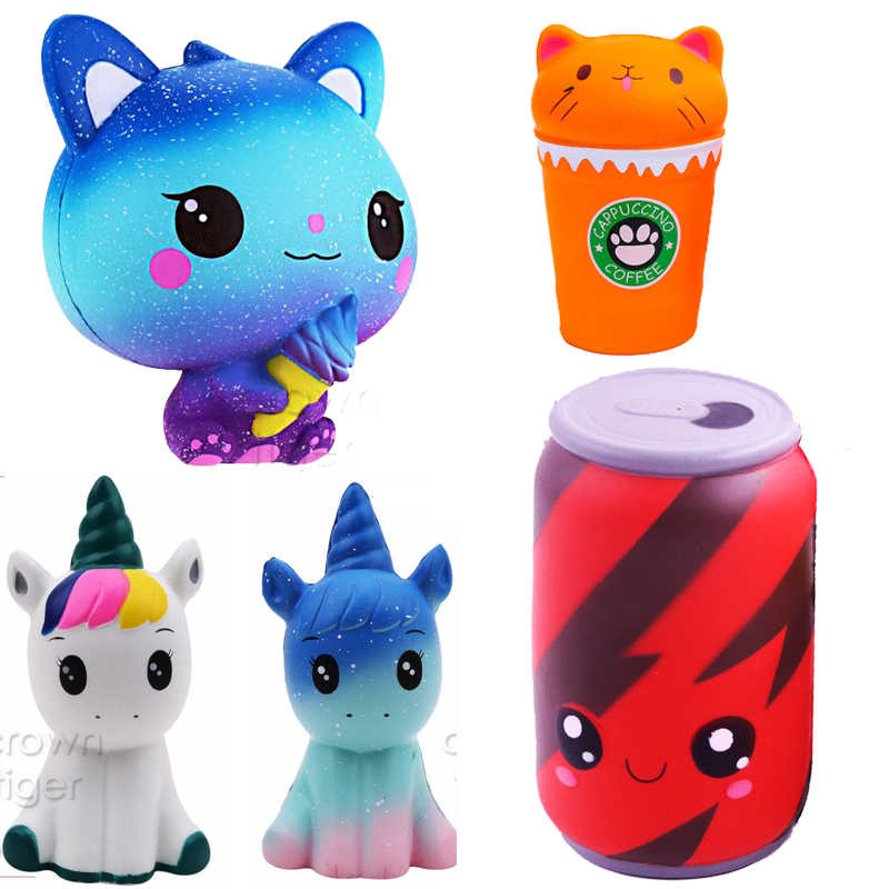 kawaii big squishy jumbo Cola panda deer animals squishi Slow Rising  Squeeze Stress Relief toy antistress Toys for Kid children