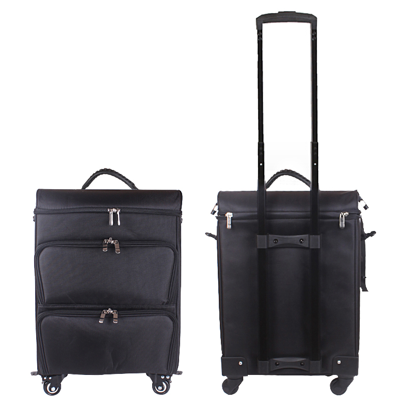 CARRYLOVE Trolley Cosmetic case Rolling Luggage bag on wheels,ladies Nails Makeup Toolbox,Beauty Tattoo Salons Trolley Suitcase