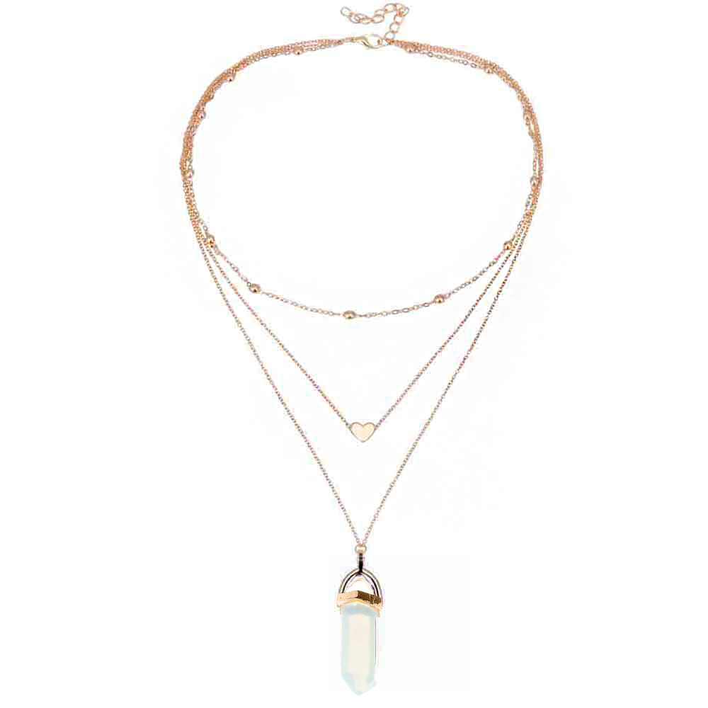 product simple multilayer necklace geometric larger european alloy