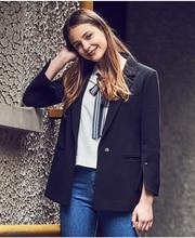 LESIES Spring Autumn Women Slim Blazer Coat Fashion Casual Jacket Long Sleeve One Button Suit Ladies Blazers Work Wear LS275205