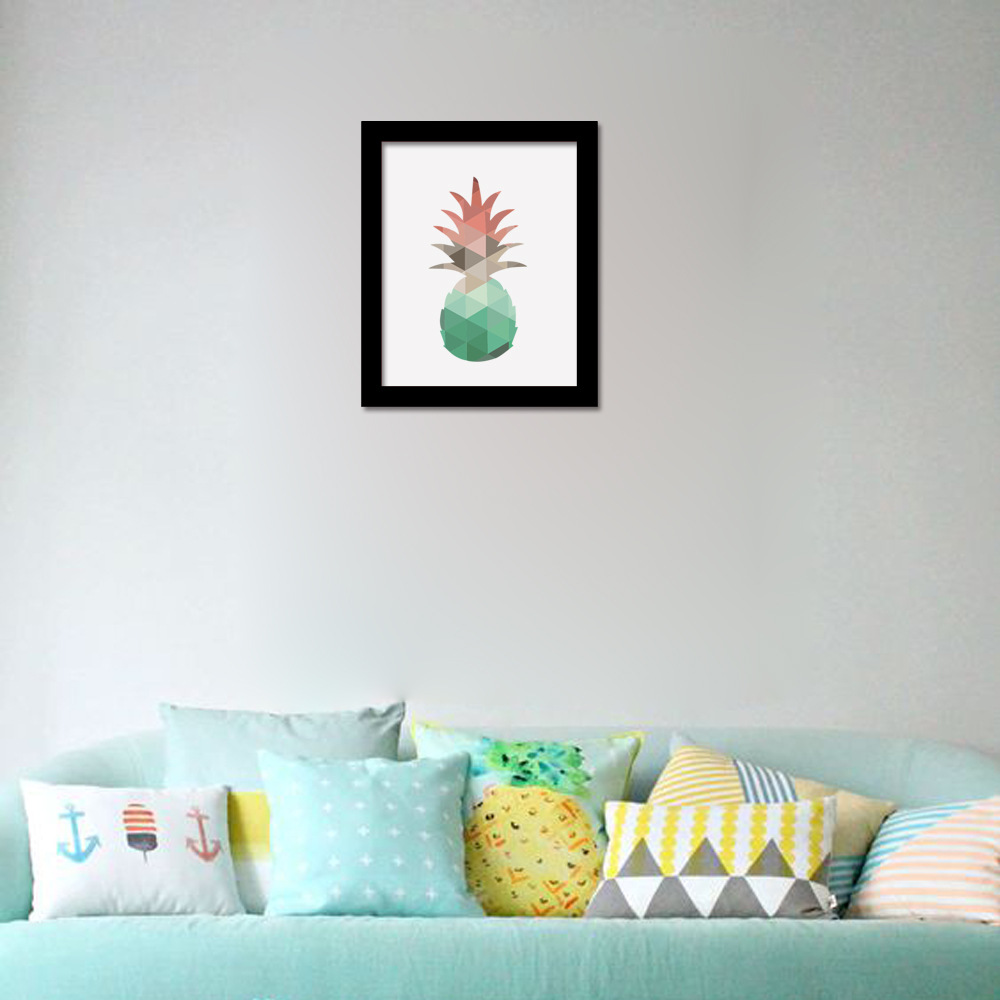 Buy p79 geometric pineapple canvas art for Wall poster for living room