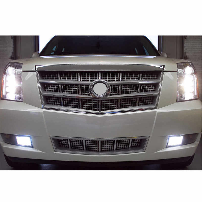 6 stuks Witte LED Fog Driving DRL Gloeilampen Combo Voor 2007-2014 Cadillac Escalade