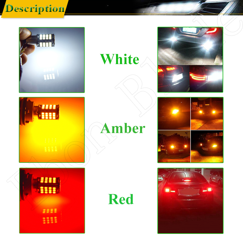 Image 5 - 2 x 1157 BAY15D P21/5W led car light white red yellow amber 56 smd auto motorcycle brake stop turn signal lights bulb lamp 6V DC-in Signal Lamp from Automobiles & Motorcycles