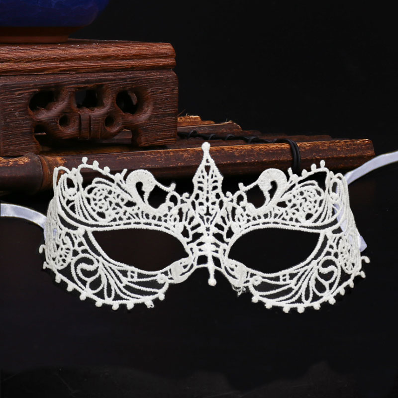 Sexy Hollow White Lace Eye Mask Masquarade Halloween Party Half Face Mask Eye mask Festival Party Props Party Dressing Supply