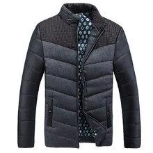 Новый 2016 Зимняя Куртка Мужчины Теплая Вниз Куртка Повседневная Куртка Мужчины дополняется Зимняя Куртка Повседневная Красивый Зимнее Пальто Мужчины