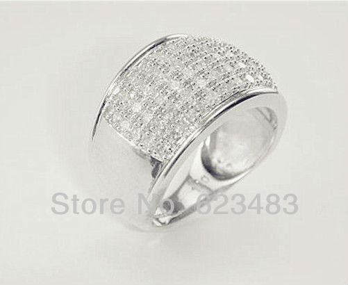 Ring 14k White Gold Diamond 1.00ct ...