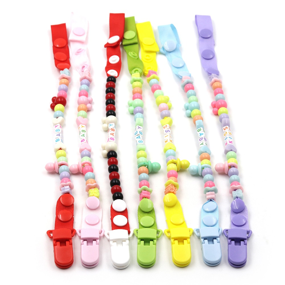 JOJOCHEW Baby Pacifier Clip Chain 7 style New Baby Pacifier Clips Newborn Dummy Pacifier Chain Clip Holder baby christmas gift