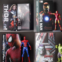 The Avengers Hulk PVC Iron Man Action Figure Thor Model Collection Toy Gift Captain America IronMan