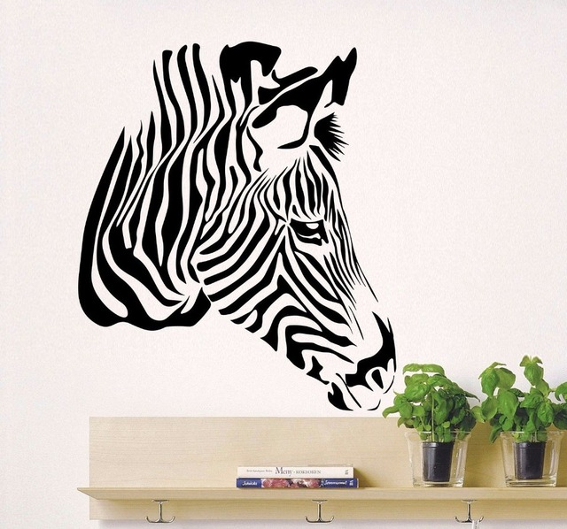 Zebra Muurstickers Afrikaanse Wilde Animal Decal Slaapkamer ...