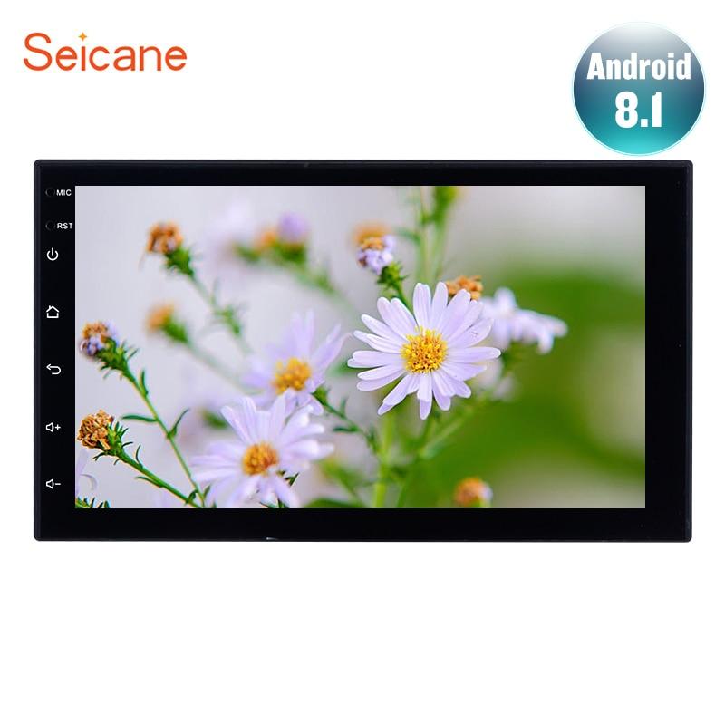 Lecteur multimédia stéréo GPS à écran tactile pour autoradio Seicane Android8.1 7