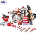 Ustensiles de cuisine vente acier inoxydable 2020 haut de gamme ustensiles de cuisine outils de cuisson casseroles et ensemble de casseroles 80 pièces cuisine démarreur Combo ustensile
