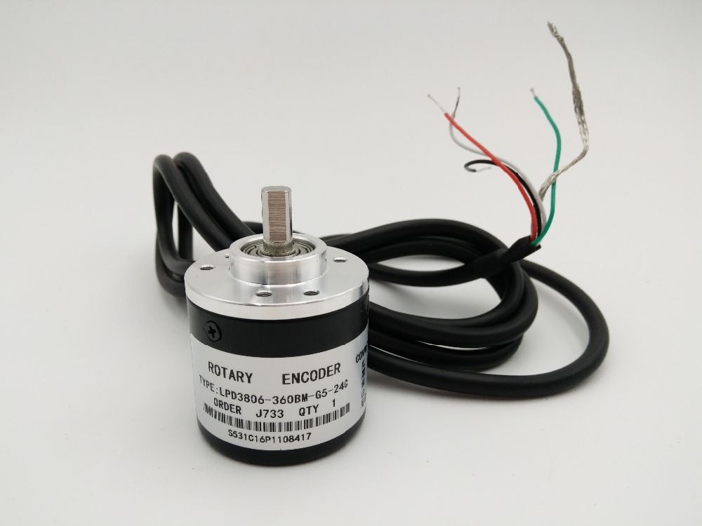 NEW 360P/R NPN DC5~24V AB 2ph Shaft 6mm 1500rpm Incremental Photoelectric Rotary Encoder+1.5M Cable