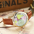 Miss Keke Fashion Children Quartz Watches Handmade 3D Clay Girls Party Dress Cartoon-Watch Leather Kids Gold Wristwatches 16