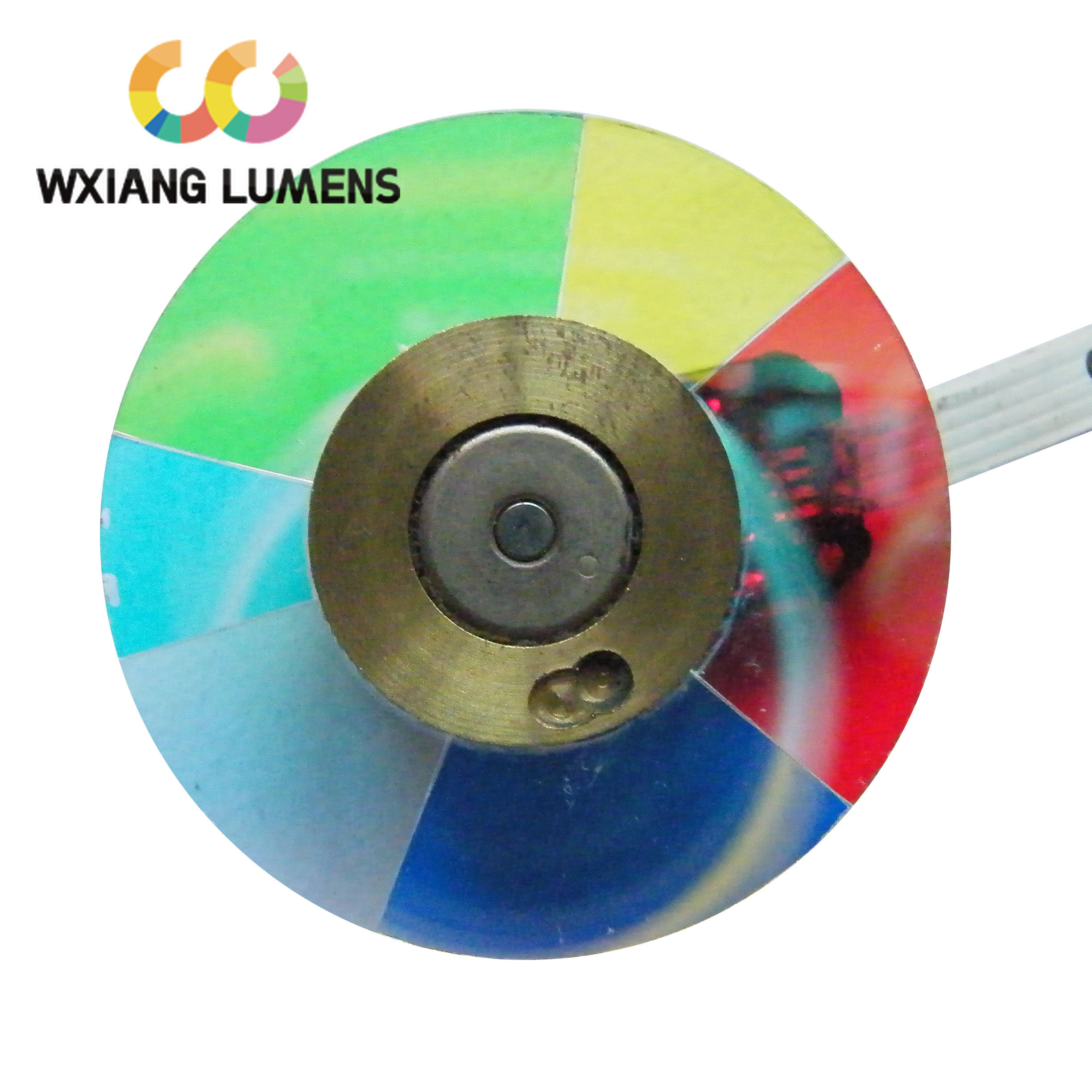 Projector Dichroic Color Wheel Fit for Panasonic PT-SD2600 6 SegmentsProjector Dichroic Color Wheel Fit for Panasonic PT-SD2600 6 Segments