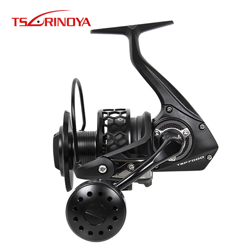 TSURINOYA TSP7000 Full Metal Spinning Fishing Reel 7+1BB 4.9:1 Saltwater Spinning Wheel Max Drag 20kg Carretilhas De Pescar(China)