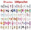 100pcs Full Cover Nail Art Decal Wraps Stickers Flowers Christmas Design Adhesive Polish Foils Nail Patch