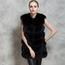 2016 New Arrival Winter Warm Fashion Women Faux Fur Vest Faux Fur Coat Fox Fur Long Vest Colete Feminino plus size  Waistcoat