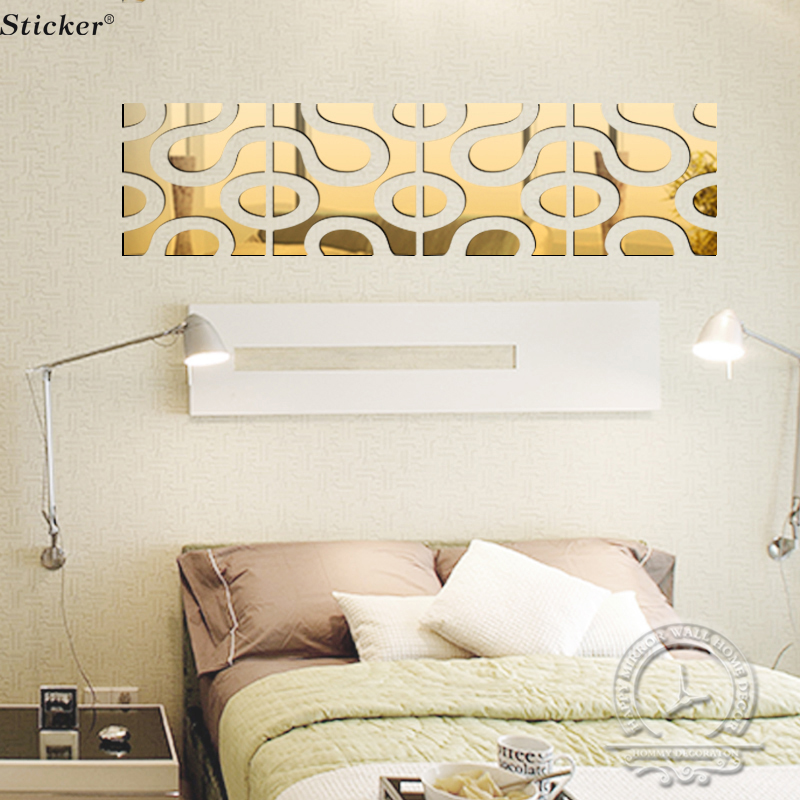 Superb 20x80cm Mirror Wall Stickers Home Decor 3D Acrylic Mirror Surface Sticker  Tv Wall Decor Modern Design Kids RoomBabyWall Stickers In Wall Stickers  From Home ... Part 19
