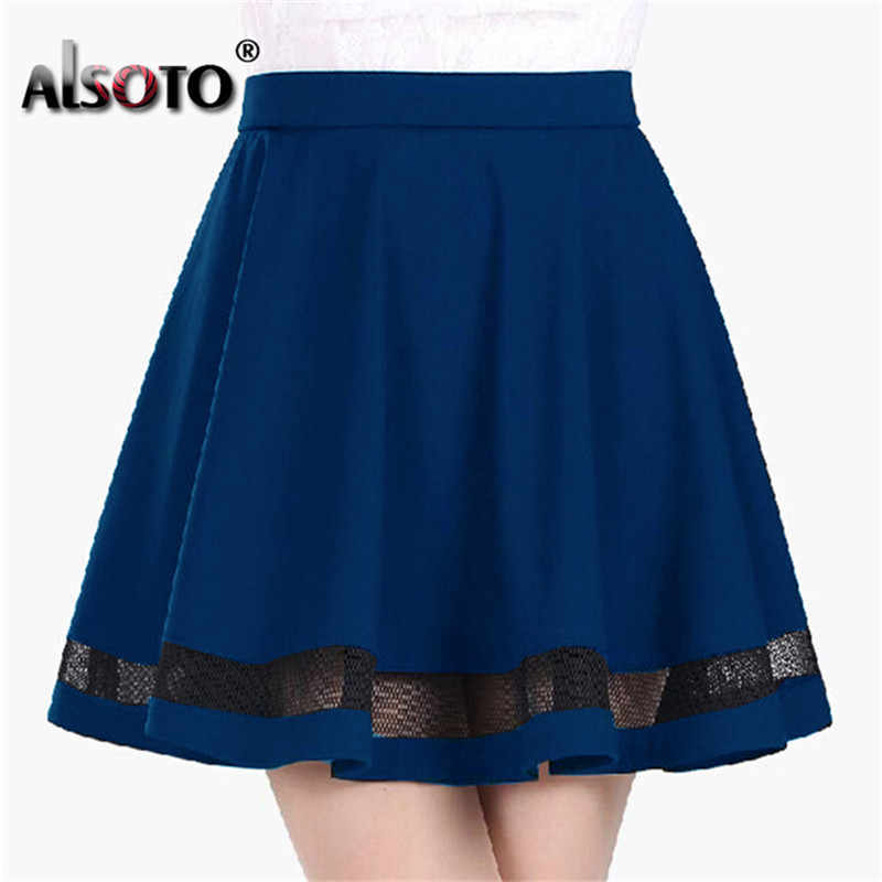 2019 sommer frauen rock Mode elastische faldas damen midi rock Sexy Mädchen mini Plissee röcke saias etek jupe Korea kleidung