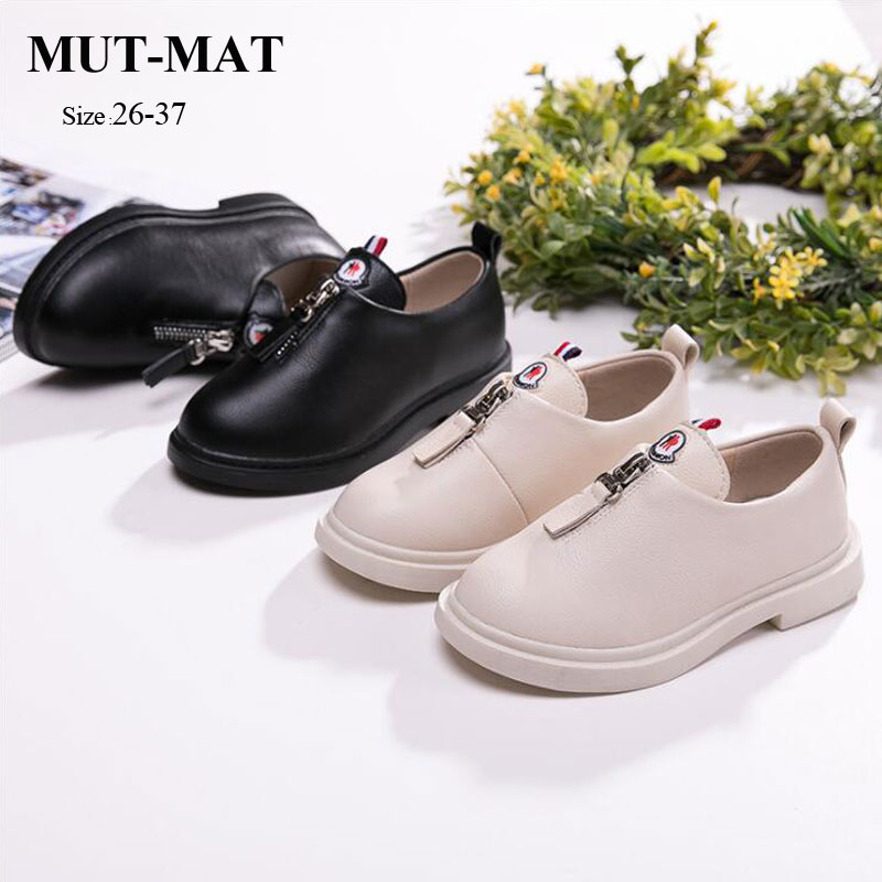Girls Leather Shoes Single Shoes 2019 Spring And Autumn New Shoes Soft Bottom Korean Children's Shoes British Wind Little Girl