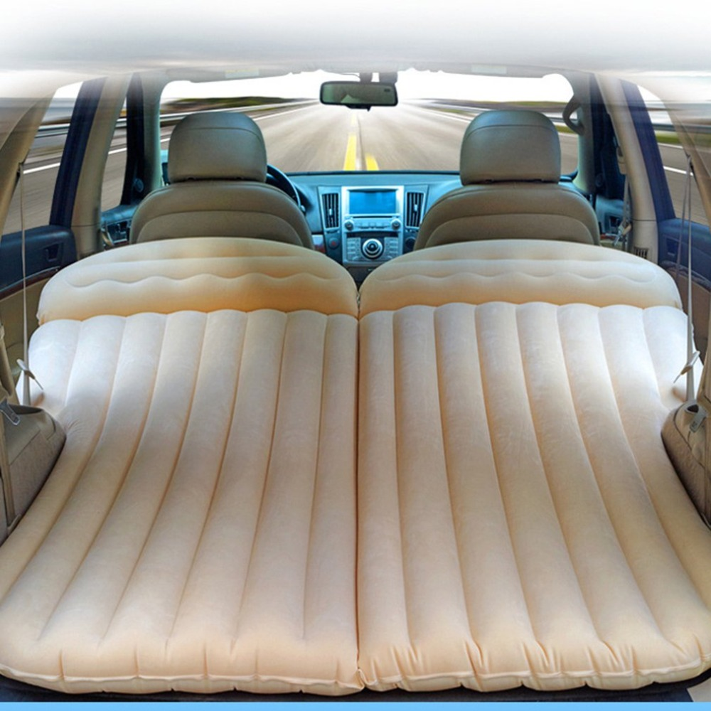 Car Travel Inflatable Mattress Air Bed Cushion Camping