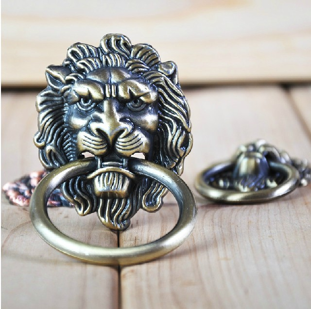 20pcs Lot Decorative Hardware Lion Head Kitchen Cabinet Knob And