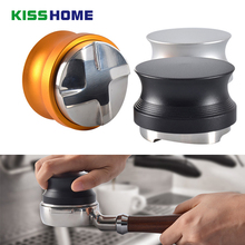 Stainless Steel Coffee Tamper Four Angled Slope Base Aluminum Alloy 58mm Adjustable Macaron Powder Hammer Accessories