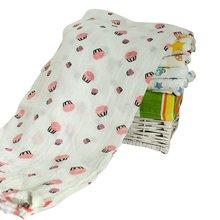 Infant Cotton Comfortable Muslin Swaddle Towel Newborn Baby Swaddling Blanket 120*120cm H07