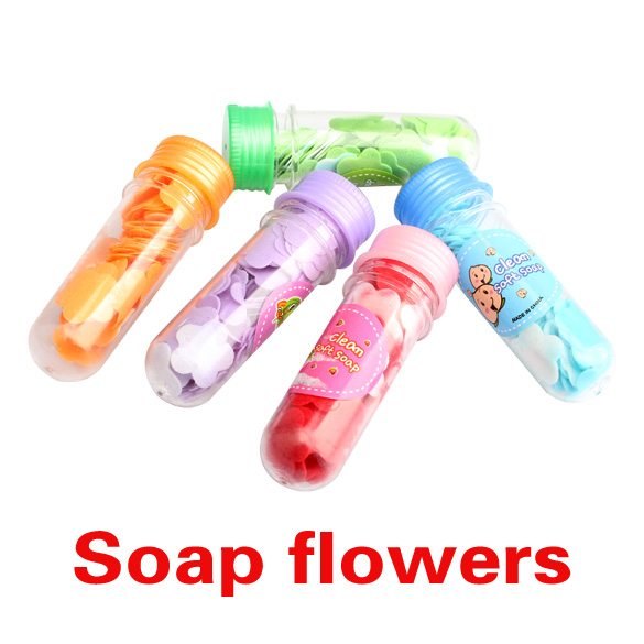 Random 1Bottle New Bath Body Soap Flower Petal Gift Wedding Favor Protable Soap Bottle H7JP