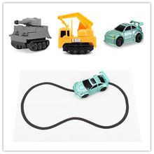 Magic Pen Inductive Tank/Car/Truck Follows Drawn Line Optical Sensor Magic Trick For Children Educational Toys above 3 years old