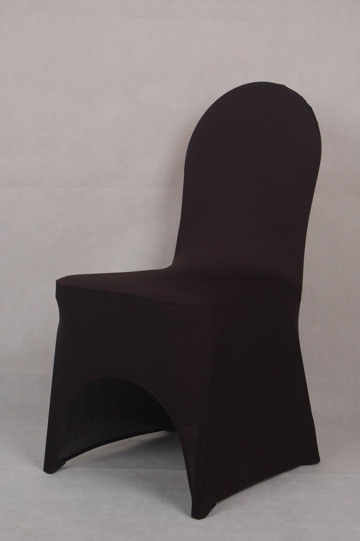 Banquet chair covers - Black Colour Wedding Spandex Chair Cover Lycra Cover For Banquet Chairs Decoration Wholesale On Sale Dinner