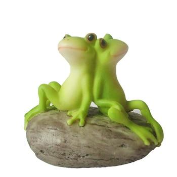 Günlük Koleksiyon Ev Dekorasyon Aksesuarları Cuet Reçine Kurbağa Figürleri Mikro Peyzaj Kişiselleştirilmiş Hayvan Heykelcik
