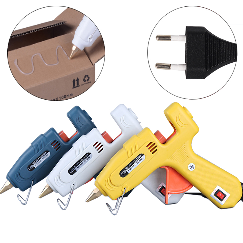Hot melt glue gun 11mm Glue Stick Craft glues 60W 100W 110~240V EU Plug DIY Adjustable power tool Professional Glue gun стоимость