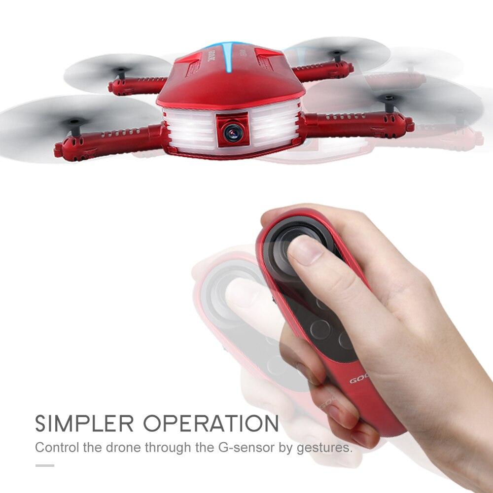 GoolRC T37 Mini 2.4G 6-Axis Gyro WIFI FPV 720P HD Camera Quadcopter Foldable G-sensor RC Selfie Pocket Drone RTF