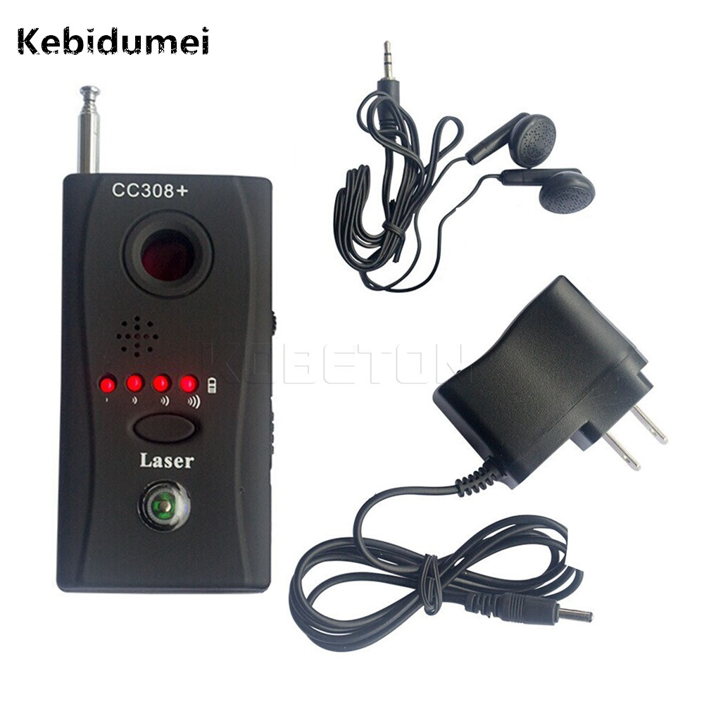 Kebidumei CC308 Wireless FNR full frequency Anti - Spy Bug Detector Mini Camera Hidden Signal GSM Device Finder Privacy Protect cc380