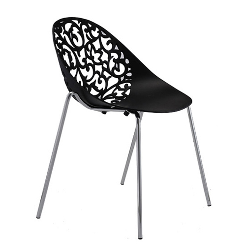 Strange Stainless Steel Chair Plastic Hollow Floral Lounge Squirreltailoven Fun Painted Chair Ideas Images Squirreltailovenorg