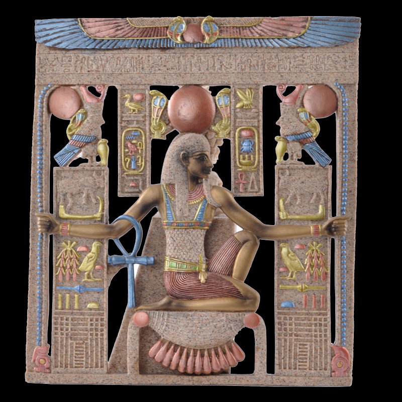 Summon of Ancient Egypt Charming Egyptian Pharaoh Crafts Colorfed Drawing Handmade sandstone wall hanging home decoration