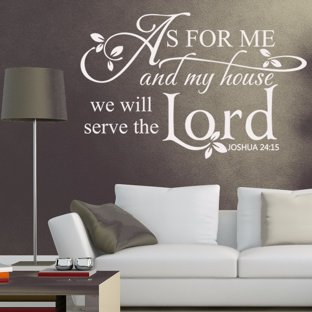 Joshua 24:15 Scripture Wall Decals   As For Me And My House,we
