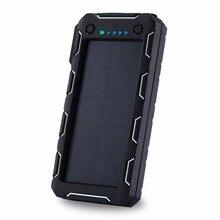Carregador de Bateria Painel do Telefone MAH para Xiaomi Portátil Solar Power Bank 15000 2 Iphone Externa Powerbank Móvel À Prova D' Água